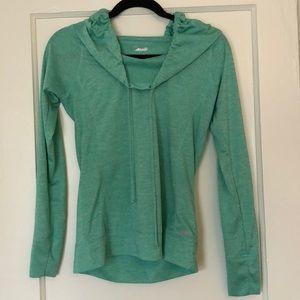 Green athletic hoodie